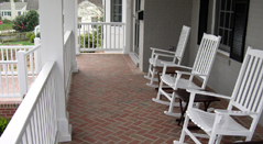 Herringbone Brickwork Porch